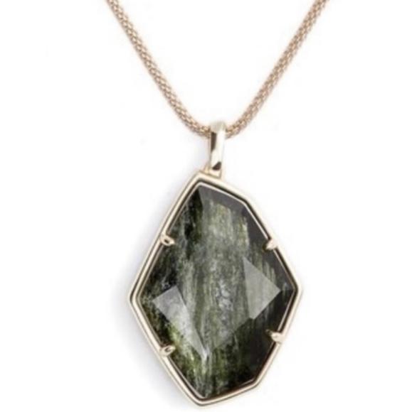 Kendra Scott Sage/Gold Kalani Long Necklace NWT